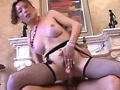 Sexy caramel tranny seduces hot guy